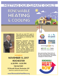Flyer for Rochester event