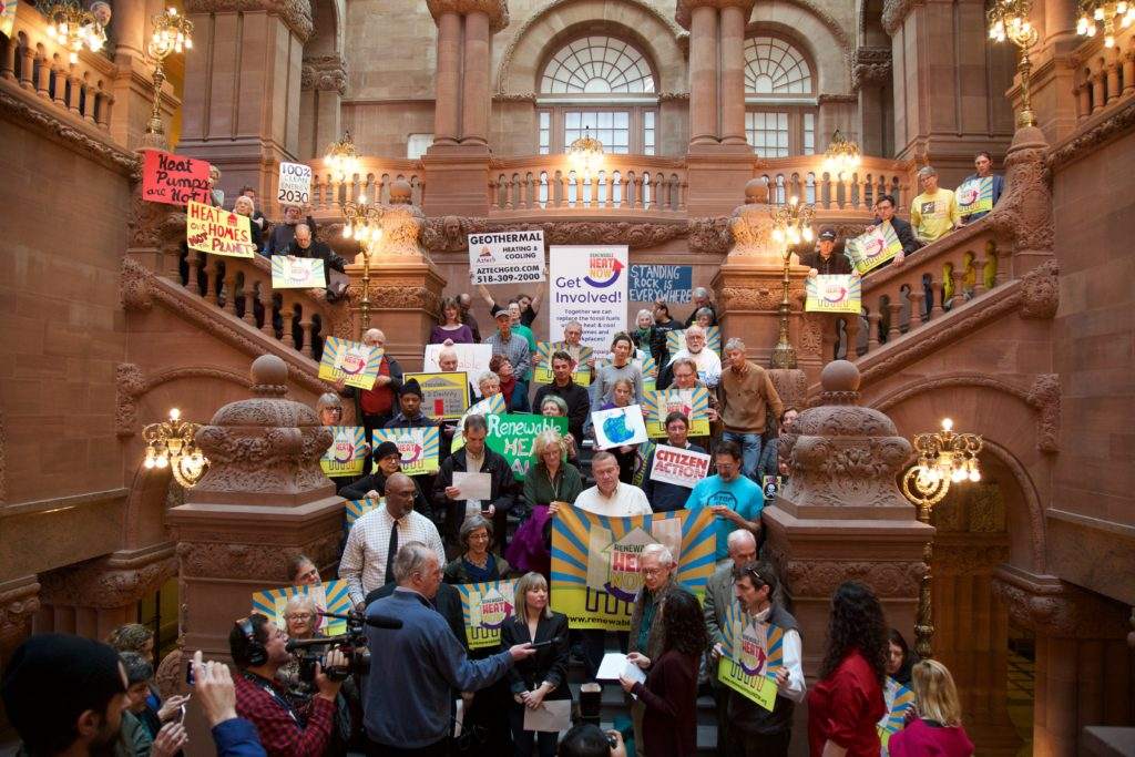 Renewable Heat Now rally in Albany, NY 12/16/17