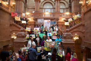 Supporters of Renewable Heat rally in the NYS Capitol - Photo by Kevin Rabis