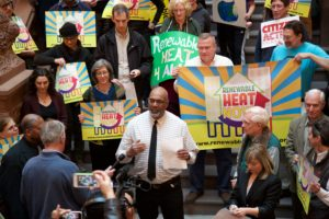 Aaron Mair speaks at 12/6/17 rally for renewable heat in NY