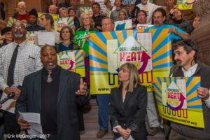 Merton D. Simpson speaks at 12/6/17 rally for renewable heat in Albany NY