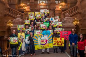 Renewable Heat Rally in Albany 12/6/17 - Photo by Erik MacGregor